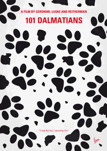 No229 My 101 Dalmatians minimal movie poster von chungkong