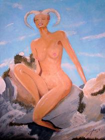 Widderfrau auf Fels von jefroh