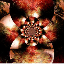 Autumn Fractal Abstract by Maggie Vlazny