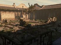 Japanese Courtyard - The Overgrowth von Liam Liberty