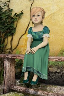 The Little Girl in The Garden - Portrait by Liam Liberty
