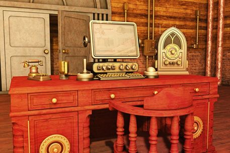 Steampunk-office
