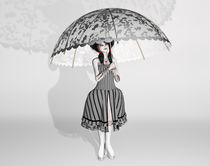 Black and White Gothic Doll by Liam Liberty