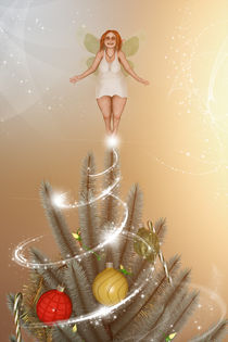 Fairy on Top of The Christmas Tree von Liam Liberty