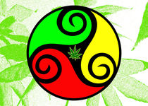 Reggae Love Vibes - Cool Weed Pot Reggae Rasta ART PRINTS von Denis Marsili