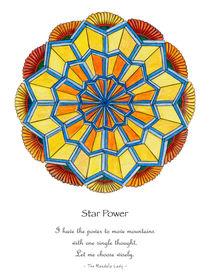 Star Power Mandala #2 w/message by themandalalady