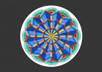 Star Power Mandala #1 Card w/grey bkground von themandalalady