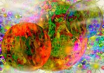 Bunte Planeten Träume von Eva Borowski