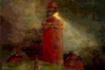 Lighthouse borbjerk-fyr- Denmark von Marie Luise Strohmenger