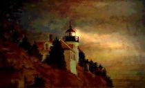 Lighthouse Main USA 1 von Marie Luise Strohmenger