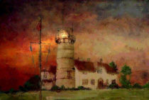 Lighthouse Rhode Island 2 USA by Marie Luise Strohmenger