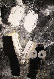 abstrakte Menschen schwarz weiß von Conny Wachsmann