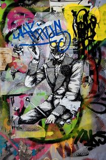 Skeleton - Graffiti Collage von sojomojo
