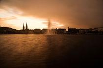 Unwetter an der Binnenalster I von elbvue by elbvue