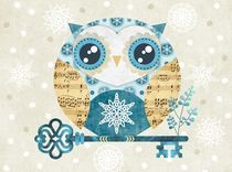 Winter Wonderland Owl by Sandra Vargas
