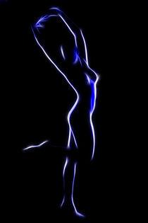 Neon Blue 4 by mixedmedia-bo
