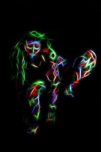 Neon Warrior by mixedmedia-bo
