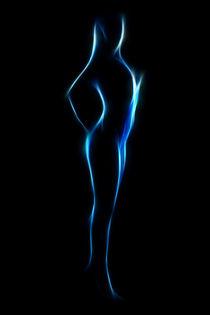 Neon Blue 5 by mixedmedia-bo