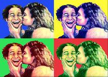 Der Kuss - PopArt von Nicole Zeug