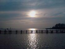 Sonnenuntergang auf der Insel Poel von Henning Hollmann