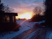 Sonnenaufgang in Brossen von Henning Hollmann