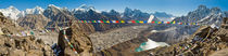 Himalaya panorama: Mt Everest, Gokyo Ri, Nepal by Tom Dempsey