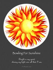Bowling for Sunshine Mandala w/Msg, grey background von themandalalady
