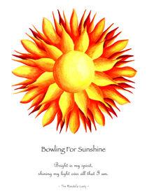 Bowling for Sunshine Mandala w/Message von themandalalady