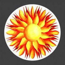 Bowling for Sunshine Mandala - grey background von themandalalady