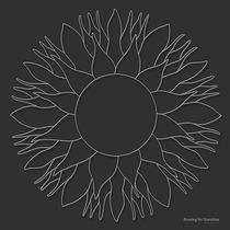 Bowling for Sunshine Mandala - white design von themandalalady