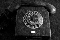 RFT-Telefon, schwarz weiss Fotografie von Kathleen Follert