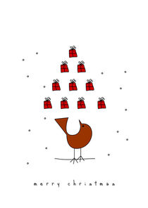 christmas tree and the bird by thomasdesign