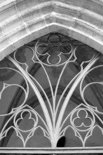 Fenster der Marienkirche Torgau, schwarzweiss Foto von Kathleen Follert