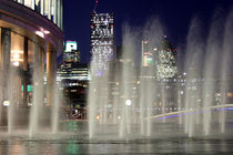 London through the fountains by Dan Davidson