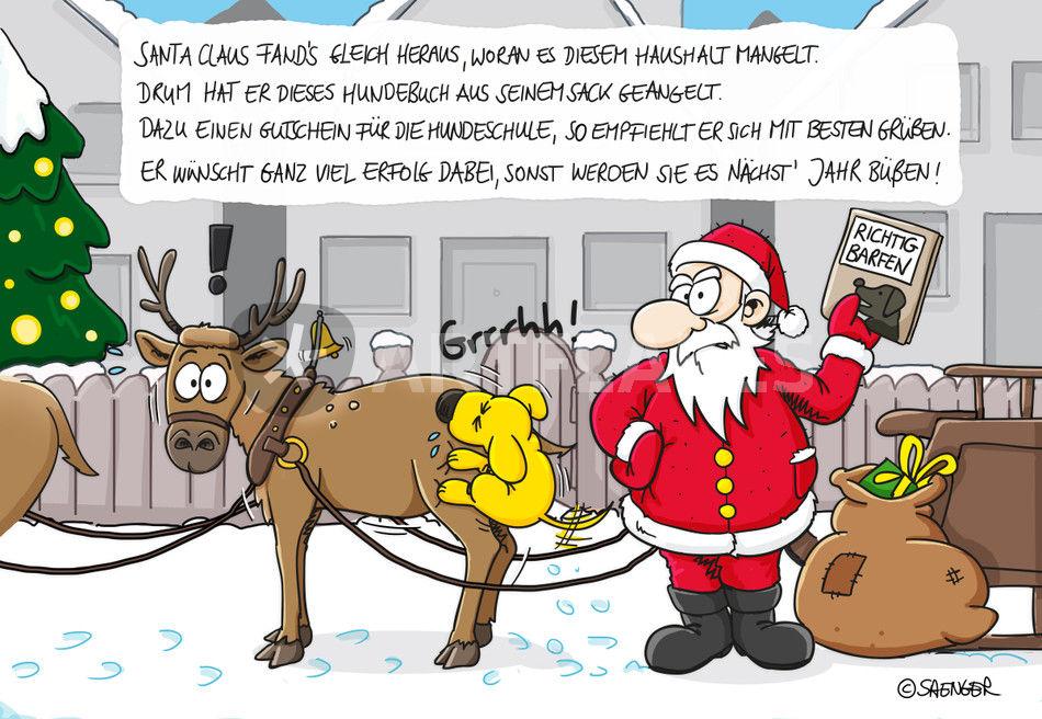 Weihnachtskarten Comic.Weihnachtskarte Ungezogener Hund Comic Art Prints And Posters By