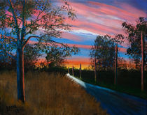 Country Road At Sunset by Bob Lamb