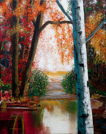 Autumn Pond von Bob Lamb