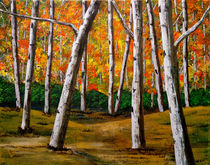 Clump of Birch Trees by Bob Lamb