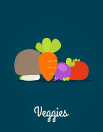 Veggies blue by jane-mathieu