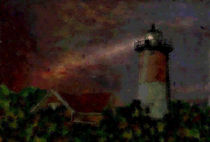 Lighthouse Rhode Island USA by Marie Luise Strohmenger