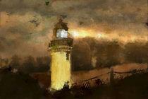 Lighthouse Warnemünde GERMANY von Marie Luise Strohmenger