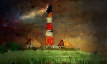 Lighthouse Westerhever GERMANY von Marie Luise Strohmenger
