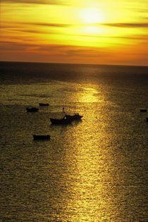 Ochre sunset by Frank Baker