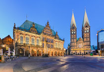 City Hall and the Cathedral of Bremen by Michael Abid