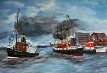 Dampfender Hafen Kiel by Bärbel Knees