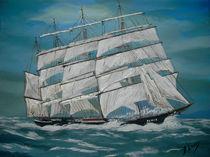 Segelschulschiff Pamir Repro. von Bärbel Knees
