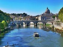 Auf dem Tiber zum Petersdom von Simon Dunn
