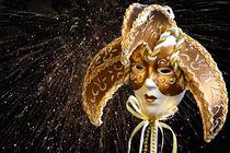 Golden Venetian Mask by 7horses