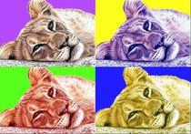 Löwen PopArt - Lions PopArt by Nicole Zeug