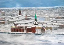 Winter über Kiel by Bärbel Knees